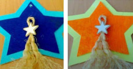 Tarjeta de Navidad con forma de estrella