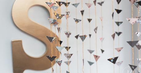 Móvil decorativo de papel