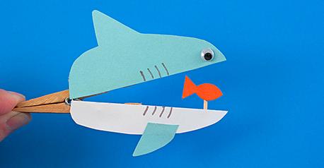 Tiburón con broches