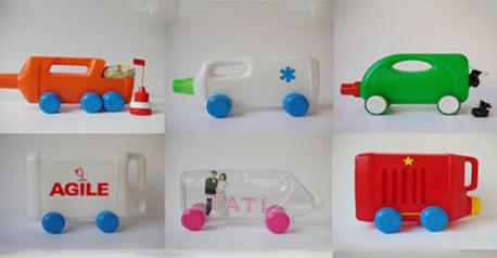 Coches con plásticos reciclados