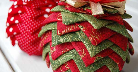 Bolas de navidad de patchwork