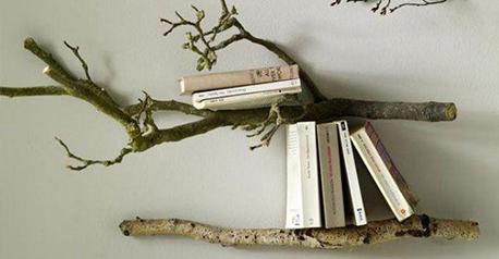 Estante de rama de árbol