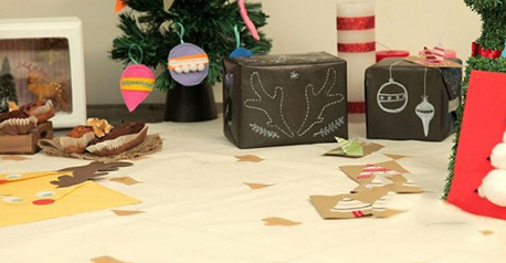 Mantel pintado para Navidad